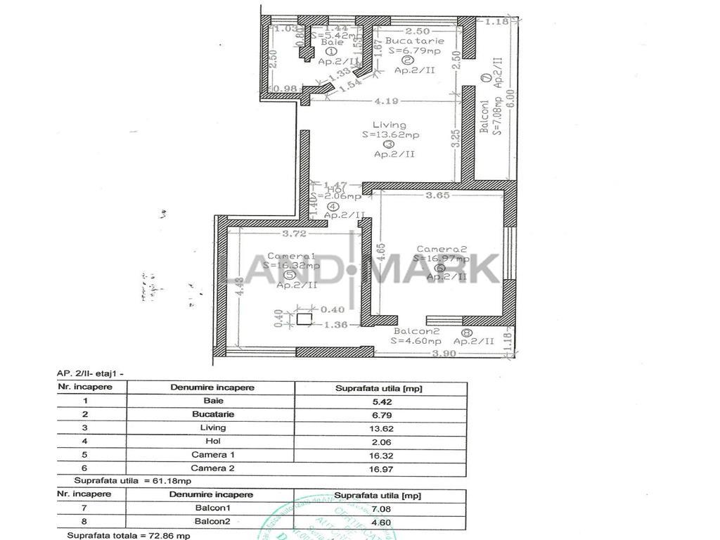 Vand apartament in bloc nou