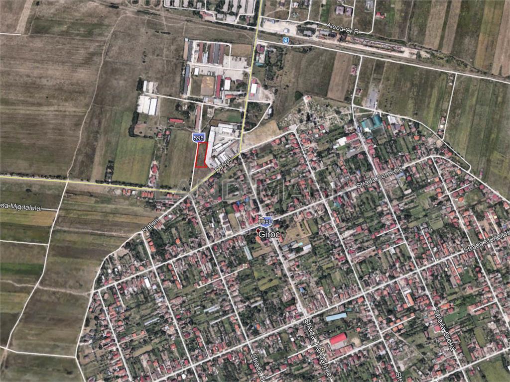 Teren industrial/comercial de vanzare in zona Giroc SAT