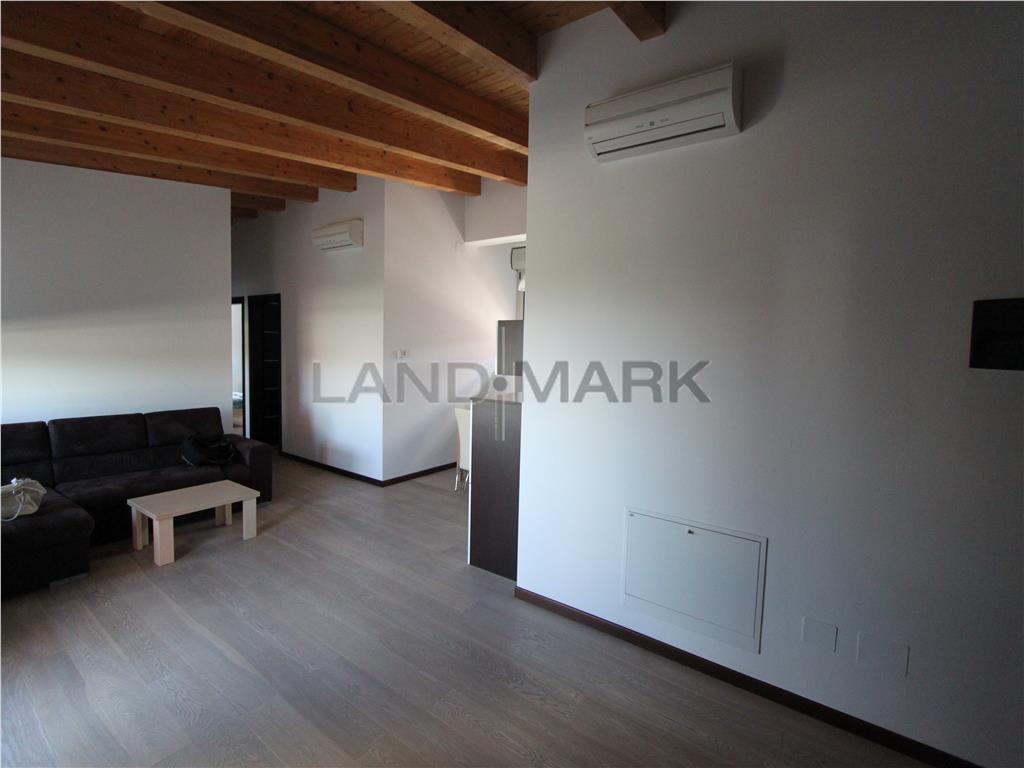 Apartament bloc nou, mobilat, terasa 40 mp