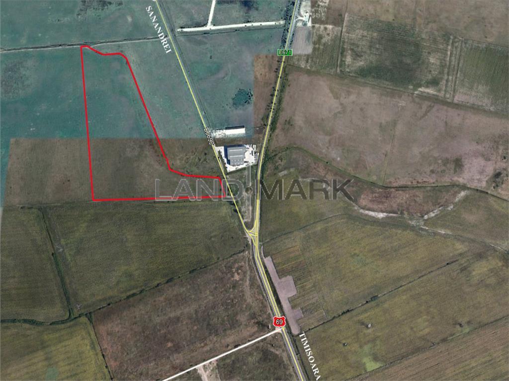 Teren extravilan de vanzare in zona Aradului