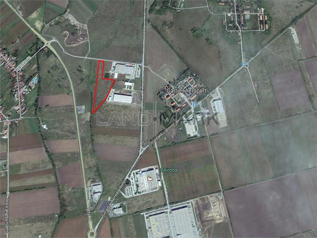 Teren cu PUZ Industrial de vanzare in zona Aeroport