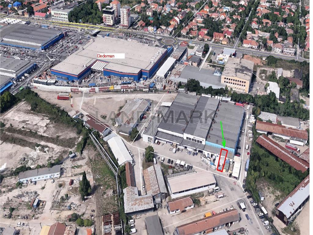 Depozit 50 mp, cu parcare privata  langa  IULIUS TOWN