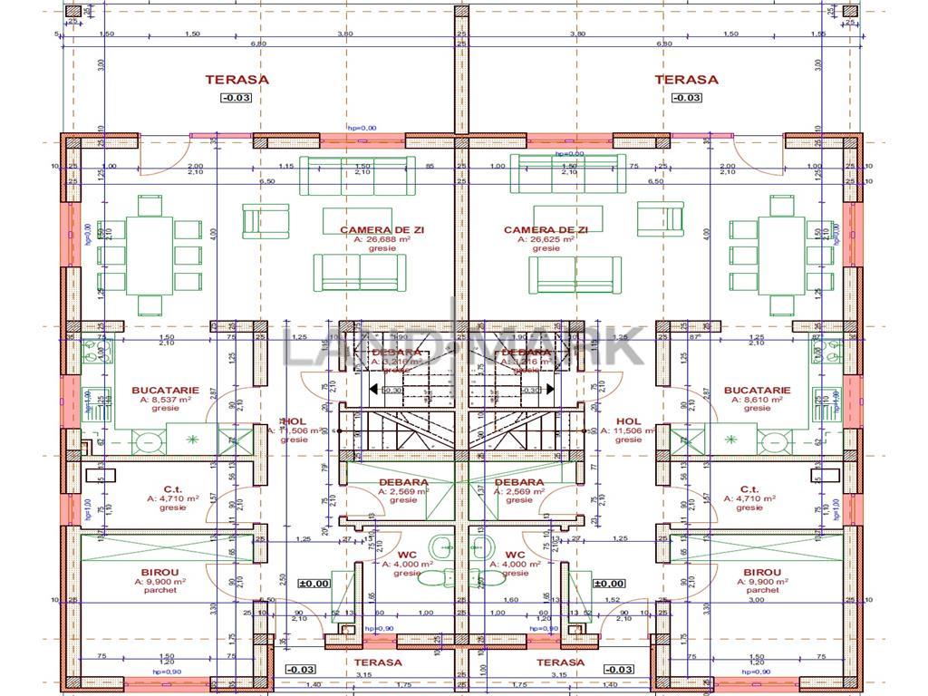 Duplex de vanzare in Chisoda