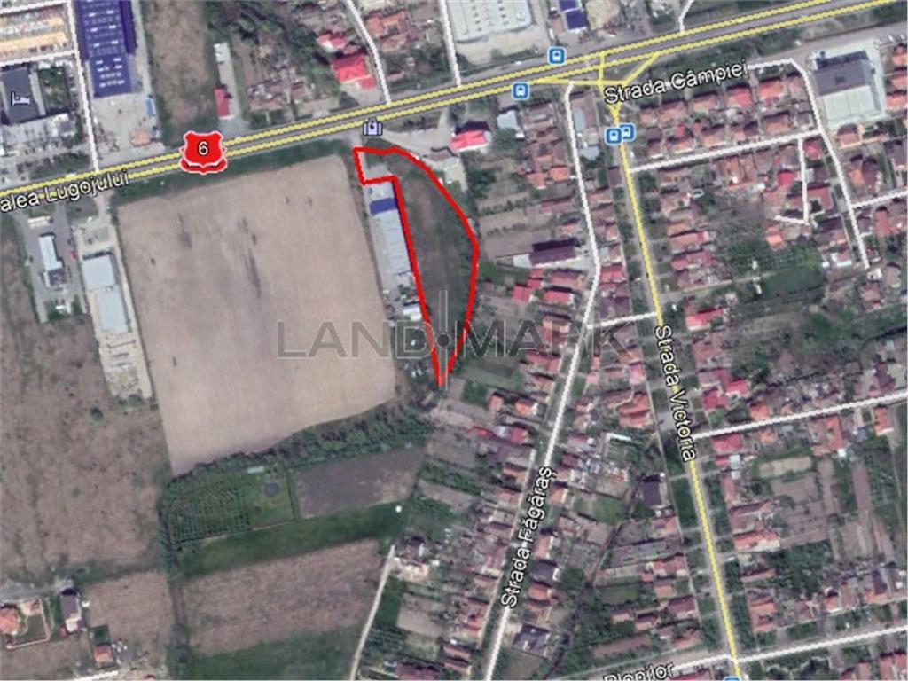 Teren cu PUZ industrial de vanzare in zona Calea Lugojului