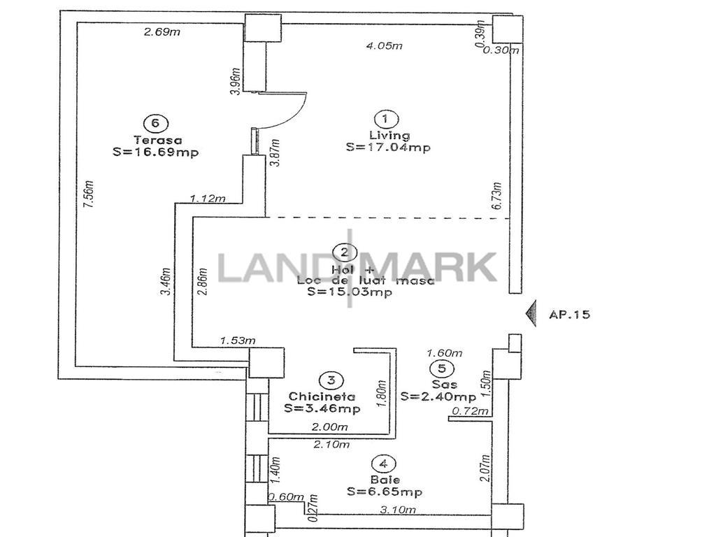 Apartament cu 1 camera, bloc din 2010, comision 0%