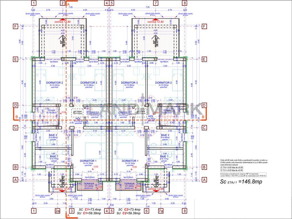 De vanzare 1/2 Duplex modern si luminos Dumbravita langa padure
