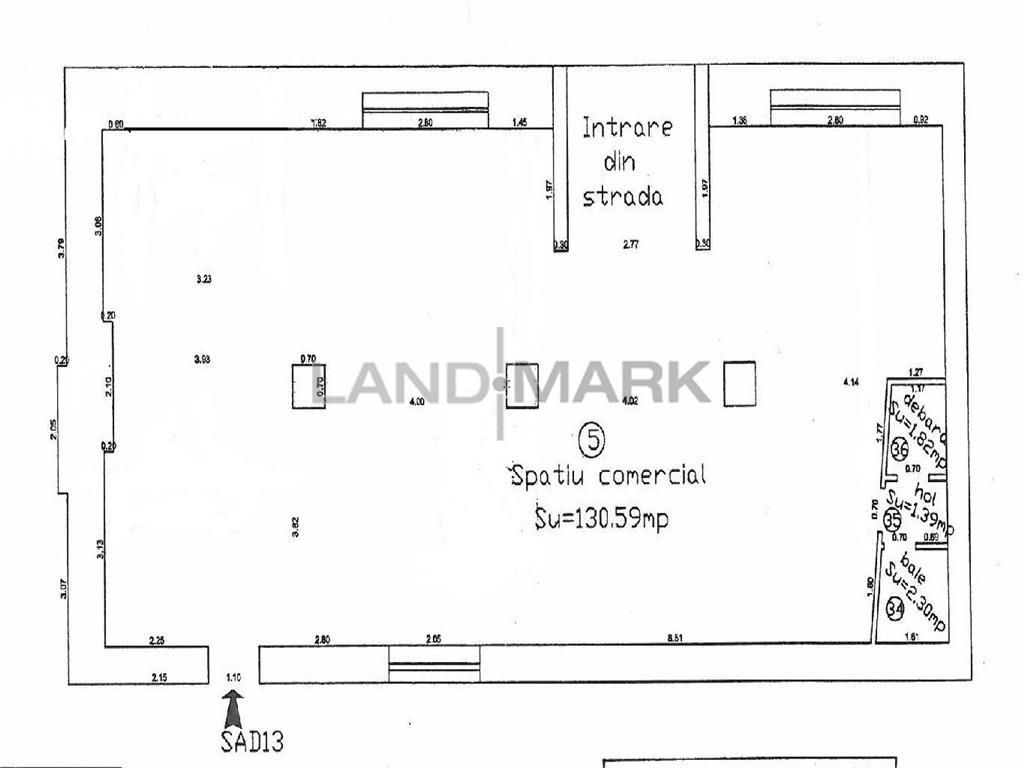 Spatiu comercial SAD 135 mp , parcare privata,  zona Complex