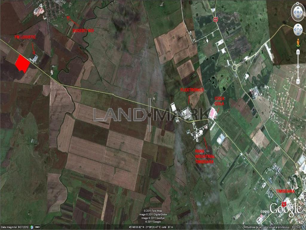 URGENT ! Teren 1.4 ha, PUZ industrial , Calea Torontalului