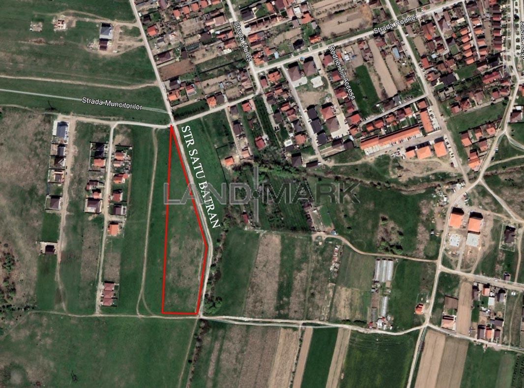 Teren parcelat de vanzare in zona Giroc  Rodnei